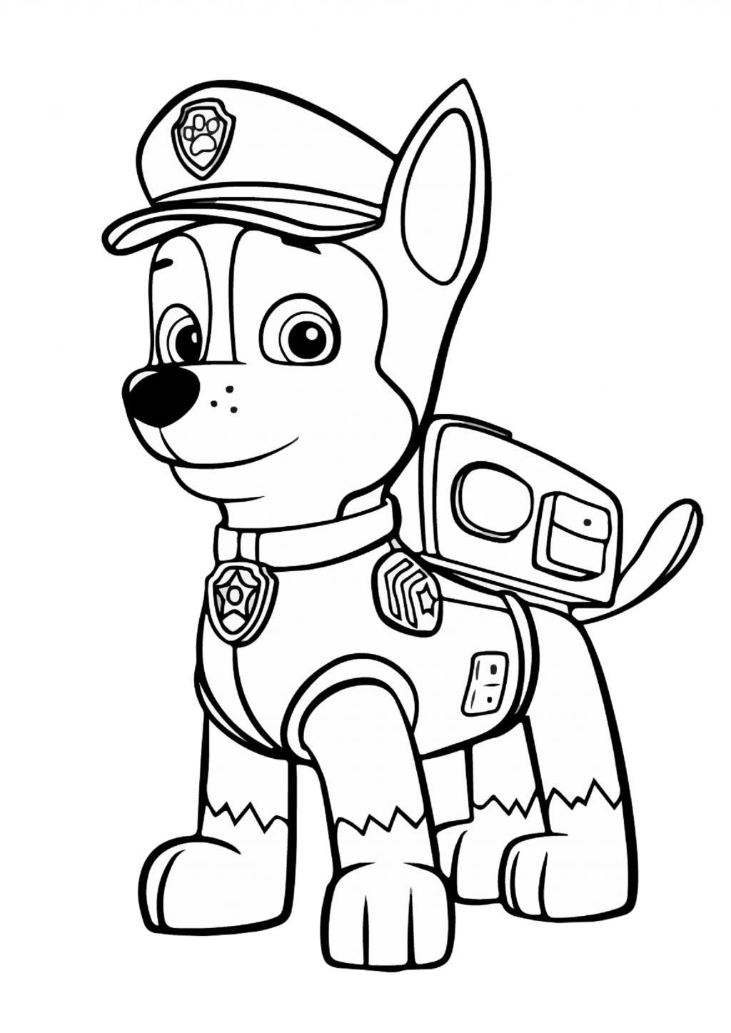 раскраска гонщик щенячий патруль