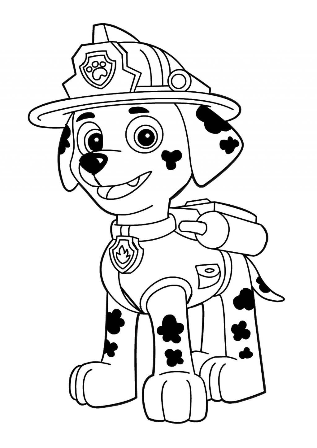 Распечатать щенячий патруль маршал