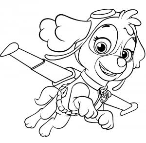 Игра раскраска скай из щенячий патруль