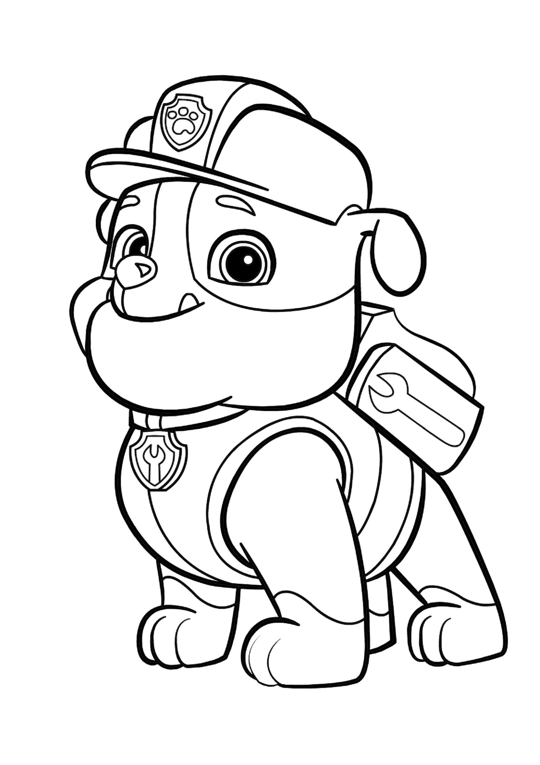 Игра раскраска для детей щенячий патруль
