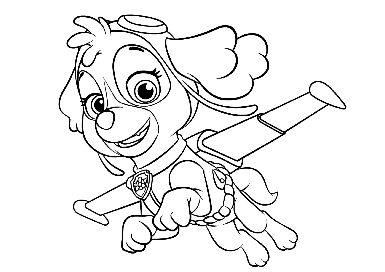 Раскраски щенячий патруль распечатать бесплатно формат а4